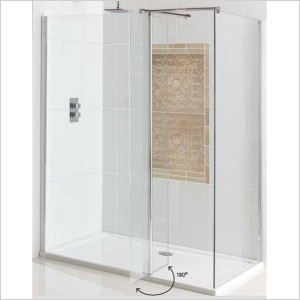 Flipper Walk-In Easy Clean Front Panel 600mm