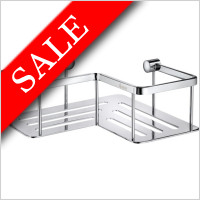 Smedbo - Slideline Design Corner Soap Basket 200 x 200 x 70mm
