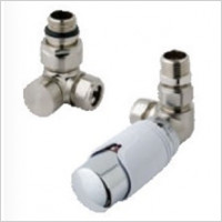Eastbrook - 15mm Corner TRV & Lockshield Valve