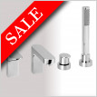 Ki 4 Hole Deck Mounted Bath Mixer With Pull Out Hand Shower