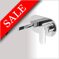 Vessini - Ki Wall Mounted Single Lever Basin Mixer 23cm Spout