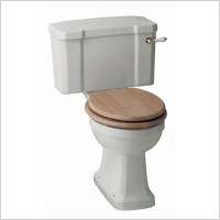 Shires - Waverley Close Coupled Cistern with white and Chrome lever