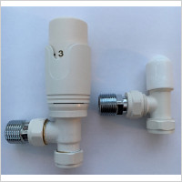 Eastbrook - 15mm Angled TRV And Lockshield Valve