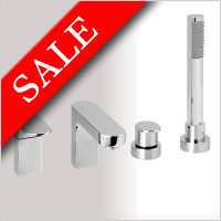 Vessini - Ki 4 Hole Deck Mounted Bath Mixer With Pull Out Hand Shower