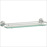 Roper Rhodes - Avening Toughened Clear Glass Gallery Shelf