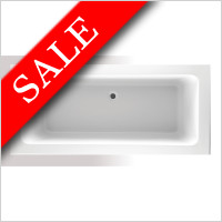 Vessini - Super Strength Acrylic Square Double Ended Bath 1800 x 800mm