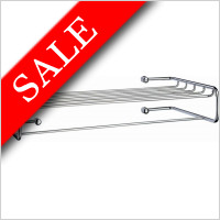 Smedbo - Sideline Towel Rack with Rail 500 x 260 x 95mm