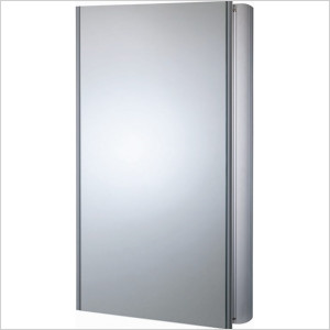 Ascension Refine Slimline Double Mirror Glass Door Cabinet