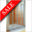 Exklusiv 120 x 200cm Saloon Door Recessed 2 Fixed Panels