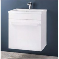 Eastbrook - Oslo 580mm Wall Hung Basin Unit With Internal Drawer