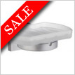 House Holder With Frosted Glass Soap Dish