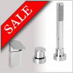 Ki 3 Hole Deck Mounted Bath Mixer With Pull Out Hand Shower