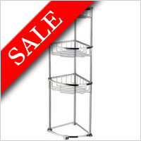 Smedbo - Sideline Design Corner Soap Basket 3 Level Adjustable Feet