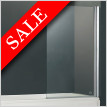 E Series One Part Bath Screen With Towel Bar 800 x 1500mm