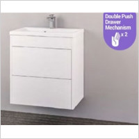 Eastbrook - Oslo 580mm Wall Hung Push Drawer Basin Unit