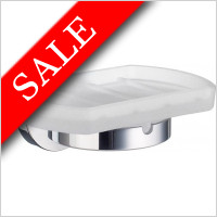 Smedbo - Home Holder With Frosted Glass Soap Dish
