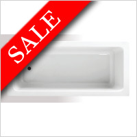 Vessini - Super Strength Acrylic Square Single Ended Bath 1700 x 750mm