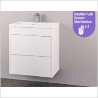 Eastbrook - Oslo 800mm Wall Hung Push Drawer Basin Unit