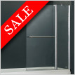 E Series Two Part Bath Screen With Towel Bar 940 x 1500mm