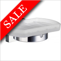 Smedbo - House Holder With Frosted Glass Soap Dish