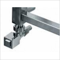 Jis Sussex towel Rails - Square Valves Angled