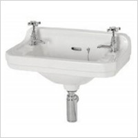Shires - Waverley Edwardian Cloakroom Basin 510 x 300mm 2TH