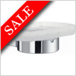 Air Holder With Frosted Glass Soap Dish