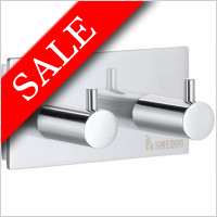 Smedbo - Pool Double Towel Hook Length 80mm Height 40mm