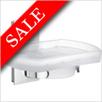 Smedbo - Pool Holder With Frosted Glass Soap Dish