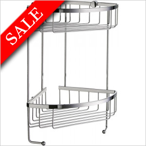 Sideline Design Corner Soap Basket Double 195 x 195mm