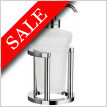 Outline Holder With Glass Soap Dispenser-Freestanding
