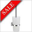 House Toilet Brush Inc Container In Frosted Glass