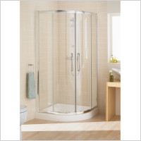 Lakes - Classic Semi Framed Single Rail Offset Quadrant 900 x 800mm
