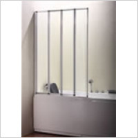 Eastbrook - Volente 4 Fold Bath Screen 1000mm x 1400mm high