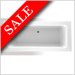 Super Strength Acrylic Square Double Ended Bath 1800 x 800mm