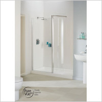 Lakes - Classic Semi Framed Walk-In Front Panel 1400mm