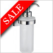 House Holder With Glass Soap Dispenser Wallmounted