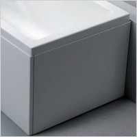 Carron Baths - Axis Offset End Bath Panel 700 x 430mm high Carronite