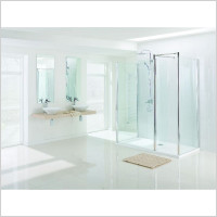 Lakes - Classic Semi Framed Walk-In Return Panel 1000mm
