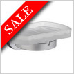 Home Holder With Frosted Glass Soap Dish