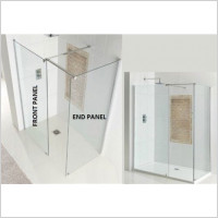 Eastbrook - Corniche Easy Clean Walk-In End Panel For 760mm