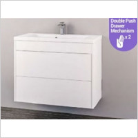 Eastbrook - Oslo 1000mm Wall Hung Push Drawer Basin Unit