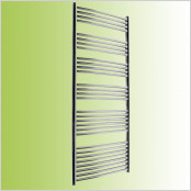 Curved white Towel Rails